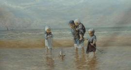 Israels reproductie, Kinderen der Zee formaat 50 x 95 cm Verkocht!