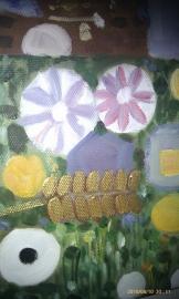 Klimt reproductie, Levensboom formaat 75 x 90 cm Verkocht!