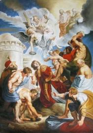 Rubens reproductie, Het martelaarschap van de heilige Stefanus 90 x 60 cm Verkocht!