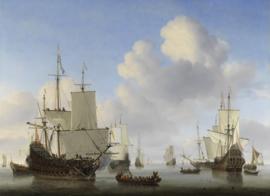 Hollandse schepen op een kalme zee