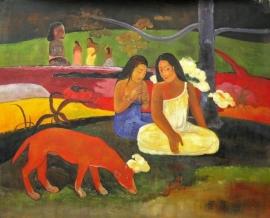 Gauguin reproductie, Arearea 75 x 94 cm Verkocht!