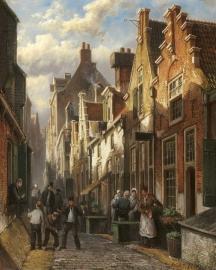 Koekkoek, Geanimeerd Hollands straatje bij namiddagzon