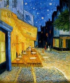 van Gogh reproductie, Cafeterras bij Nacht formaat 66 x 80 cm Verkocht!