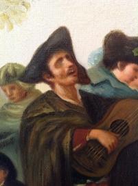 Goya reproductie, Blinde man speelt gitaar formaat 80 x 65 cm Verkocht!