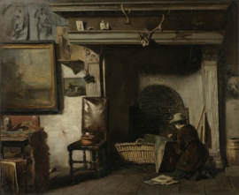 Het atelier van de Haarlemse schilder Pieter Frederik van Os