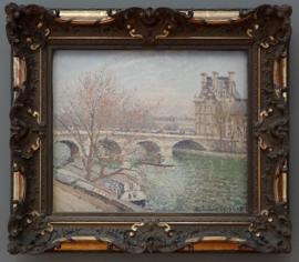Paris le Pont-Royal et le Pavillon de flore