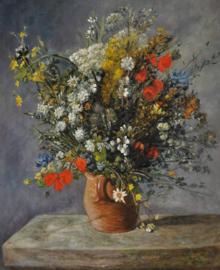 Renoir reproductie, Bloemen in een vaas formaat 70 x 90 cm Verkocht!