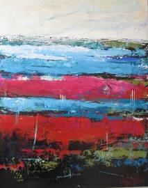 Dekker, Waterland in blauw/roze/rood 3041