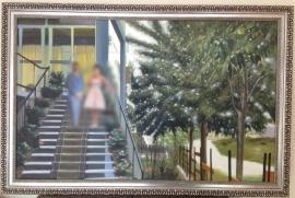 Foto naar schilderij trap, formaat 50 x 80 cm Verkocht!