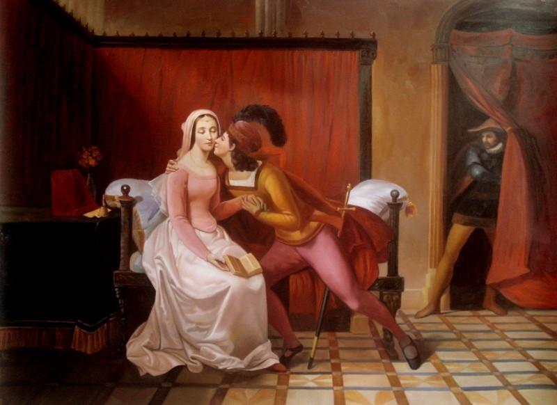 Rubio reproductie, Paolo en Francesca 75 x 100 cm Verkocht!
