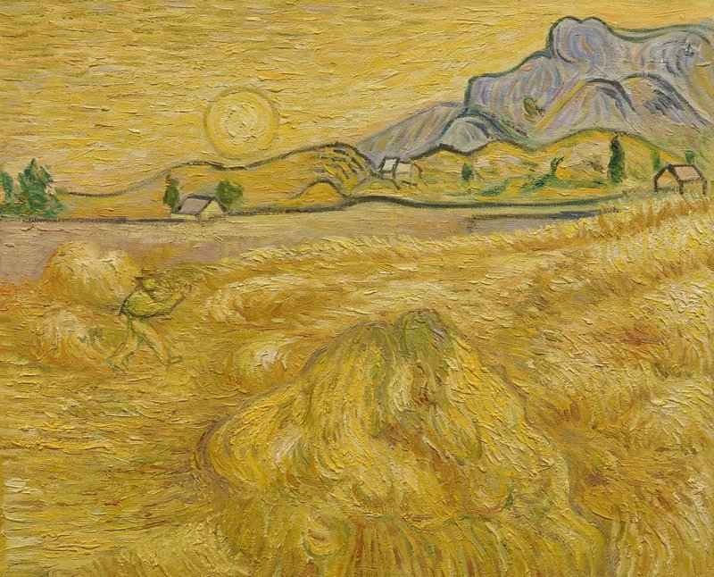van Gogh reproductie, Korenveld Verkocht!