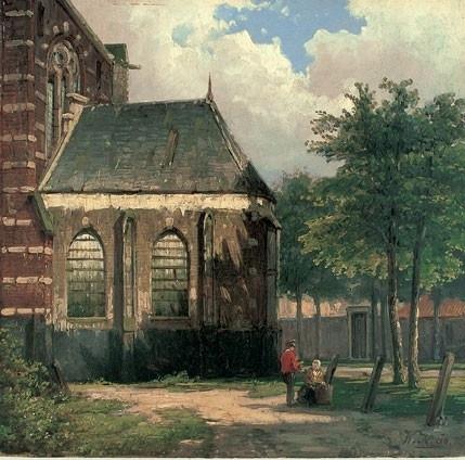 Koekkoek, Kerkpleintje in Zaltbommel