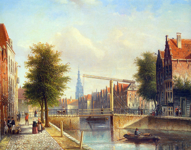 view_of_a_town_with_figures_strolling_on_a_quay-large.jpg