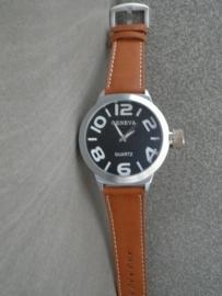 Heren Horloge! 50MM XXL! + Garantie!
