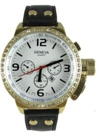 Geneva heren horloge + extra batterij!