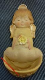 Wijwatervat Kunsthars engel