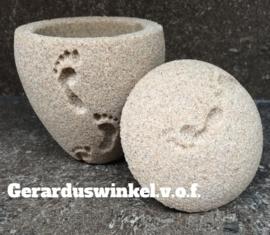 Bio mini urn zand