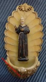 Wijwatervat Pater Pio Polystone
