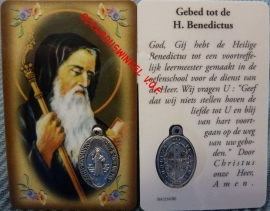 10 stuks gebedskaartje St. Benedictus