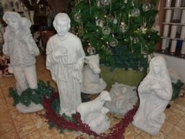Beton kerstgroep 12 delig