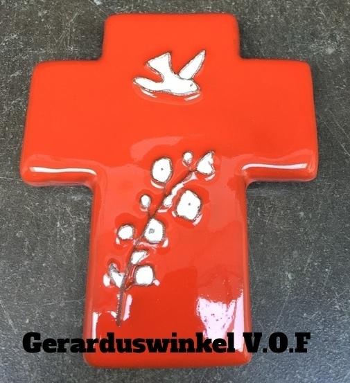 Keramiek kruis.