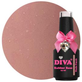 Diva Gellak Rubber Basecoat Nude Peach 15 ml
