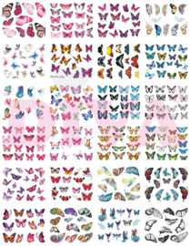 Waterdecals Butterfly - 24 sheets