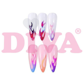 Diva Flame Hologram Stickers 6 Sheets