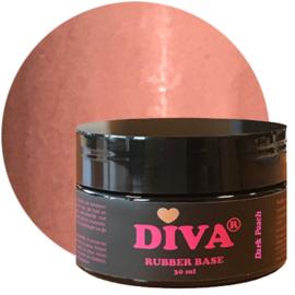 Diva Gellak Rubber Basecoat Dark Peach POT 30 ml