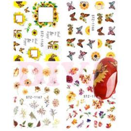 Waterdecals 008 Flowers