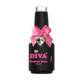 Diva Gellak Rubber Basecoat Clear 15 ml