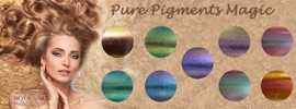 Chrome Pure Pigment Magic 9 kleuren + gratis fluffy penseel