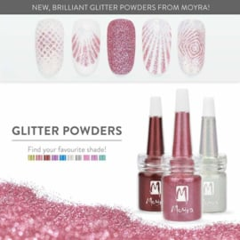 Moyra Glitter in een flesje no 3 Dark Red