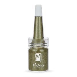 Moyra Glitter in een flesje no 1 Mos Groen