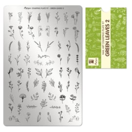 Moyra Stamping Plate 97 Green Leaves 2