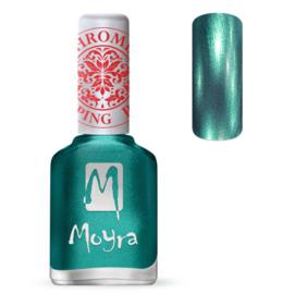 Moyra Stamping Nail Polish Chrome Green 12ml sp27