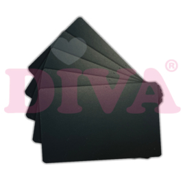 Show Cards PVC mat zwart 25 stuks