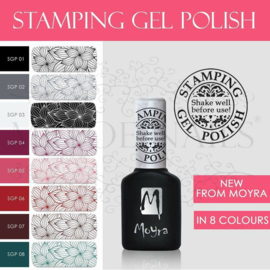 Moyra Stamping Gel Polish Complete Serie 9 kleuren