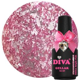 Diva Gellak Glitter Bright Pink 15ml