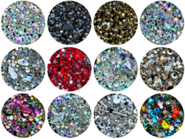 Crystal Facet Strass 3D Flatback