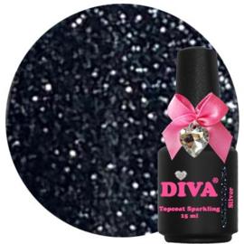 Diva Topcoat Sparkling Silver zonder plaklaag 15 ml