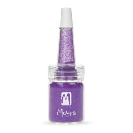 Moyra Glitter in een flesje no 16 Dark Purple