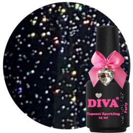 Diva Topcoat Sparkling Party zonder plaklaag 15 ml