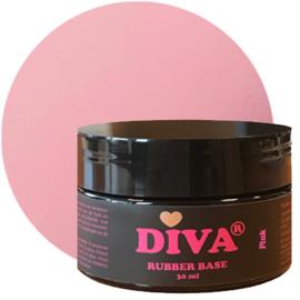 Diva Gellak Rubber Basecoat Pink POT 30 ml