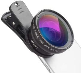 Apexel Universele telefooncamera's Lens Wide Angele & Macro