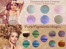 Diamonds are Forever en Magic Chameleon Pigmenten in luxe bewaardoos 15 potjes