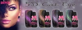 Diva Gel Lak 5D Cat Eye complete collectie 4 flesjes