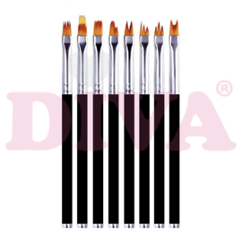 Flower Brush - set van 8
