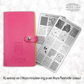 2 Moyra Mini Stamping Plates met gratis Plateholder