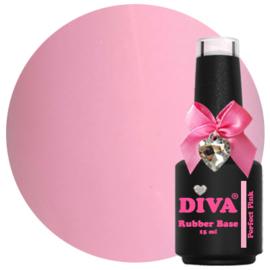 Diva Gellak Rubber Basecoat Perfect Pink 15 ml